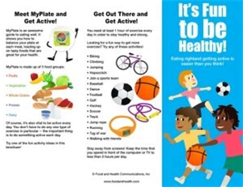 Amazon.com: Kids MyPlate and Physical Activity Brochure