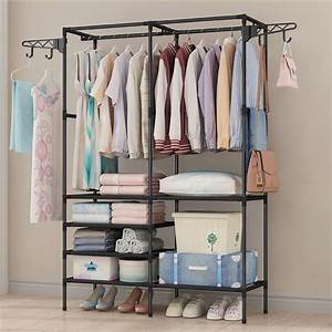 Garment, Rack, Multipurpose, Clothing, Stand, Heavy, Duty, Coat, Hanging, Rack, With, Multi