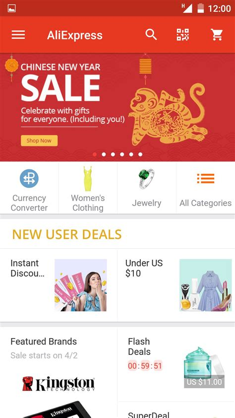 mobile app for android do shopping via aliexpress mobile app for android