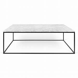temahome gleam long white marble chrome coffee table With long white coffee table