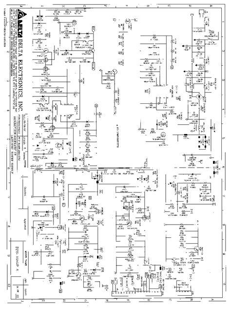 delta dps 165gp power supply sch service manual schematics eeprom repair info for