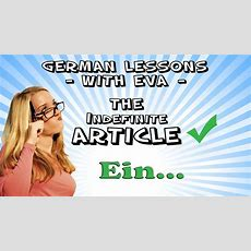 German Lesson 10  The Indefinite Article Youtube