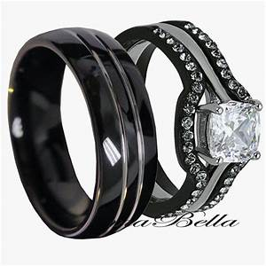 black wedding rings his and hers wedding and bridal With black ring wedding