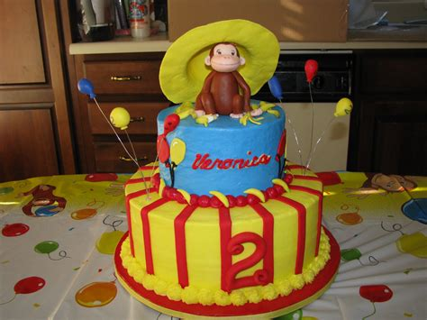 easy    curious george birthday cakes