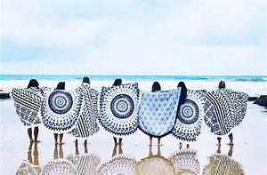 Serviette De Plage Ronde Eponge : serviette de plage amazon ronde ou la trouver clem atc ~ Teatrodelosmanantiales.com Idées de Décoration