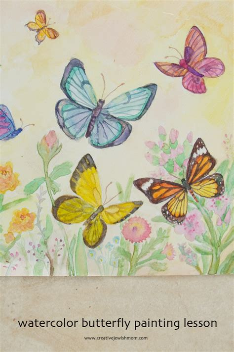 watercolor butterflies painting lesson creative jewish mom