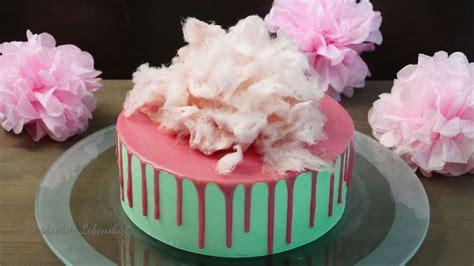 deko kuchen selber machen bunter drip cake mit zuckerwatte torten ohne fondant backen absolute lebenslust