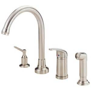 danze single handle standard kitchen faucet in stainless steel d409012ss the home depot - Homedepot Kitchen Faucets