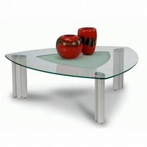 chintaly tracy triangular shape glass cocktail table in With brushed silver coffee table