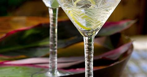 Tommy Bahama Etched Martini Glasses