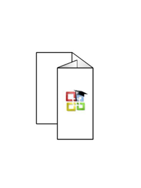 faltblatt erstellen und drucken mit word office lernencom