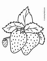 Strawberry Colouring Mouth Picolour sketch template