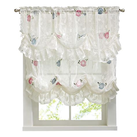 allison balloon lace curtain and valance by collections etc