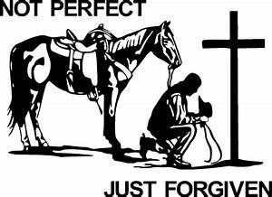 Christian Cowboy Praying Horse Cross Car Truck Window ...