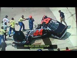 Mike Harmon Worst Nascar Crash EVER! - YouTube