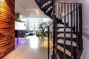 Escalier Colimaçon Beton : prix d 39 un escalier en colima on classique et sur mesure devis ~ Melissatoandfro.com Idées de Décoration