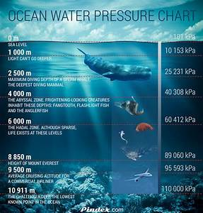 Diagram Of Pressure On The Ocean With Depth