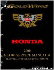 2000 Honda Gl1500 Goldwing Touring Motorcycle Service Manual