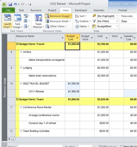 how to create a project budget certification insider microsoft project budgets and costs