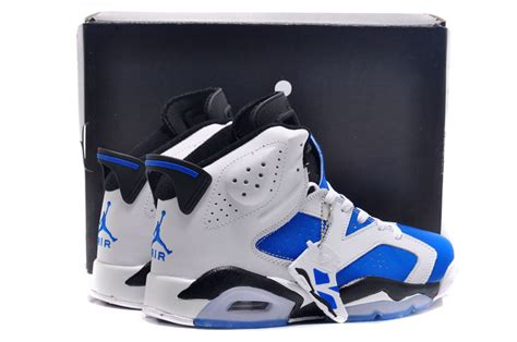 Air Jordan Retro 6 Blue and White