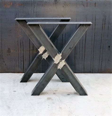 table pied metal industrial x shape metal table legs 3x3 pied de table