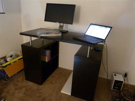 stand up office desk ikea standing desk with computer monitor dining room