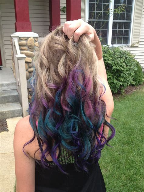 Peacock Inspired Hair Color ♥ Beauty Shop ♥ Pinterest