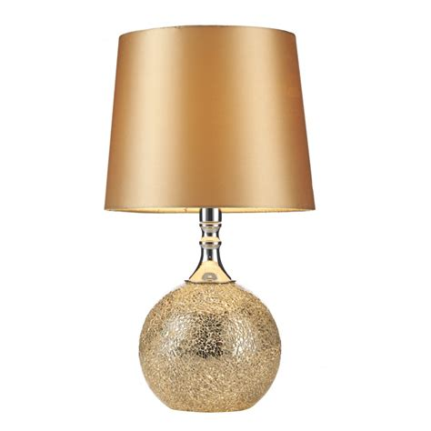 Two Bulb Table Lamp contemporary chrome amp gold mosaic table lamp with shade