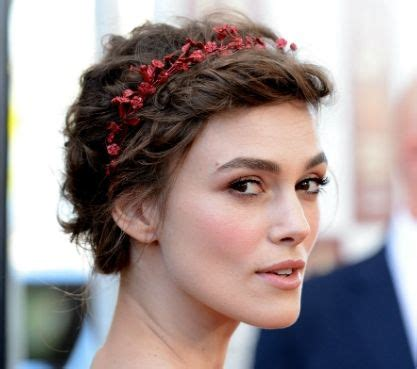 Keira Knightley Short Prom Hairdo   Prom, Party, Formal
