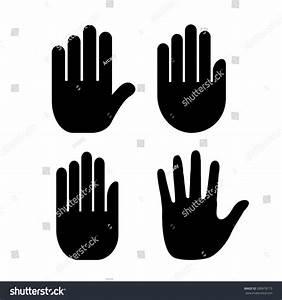 Hand Palm Icon Stock Vector Illustration 280878173 ...