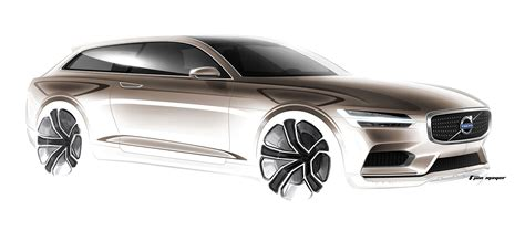 volvo concept estate design sketch   jon mayer car