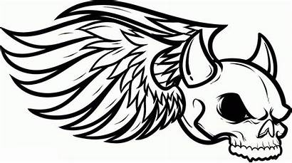 Graffiti Skull Coloring Pages Cool Winged Crazy
