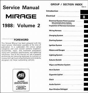 1988 Mitsubishi Mirage Repair Shop Manual 2