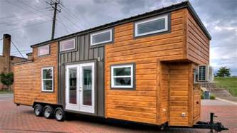 tiny house on wheels modern chic with a touch of rustic