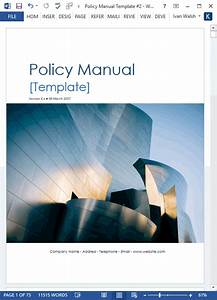 Policy manual template 68 page ms word free checklists for Company policy manual template