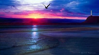 Windows Xp Widescreen Sunset Ocean Themes Vista