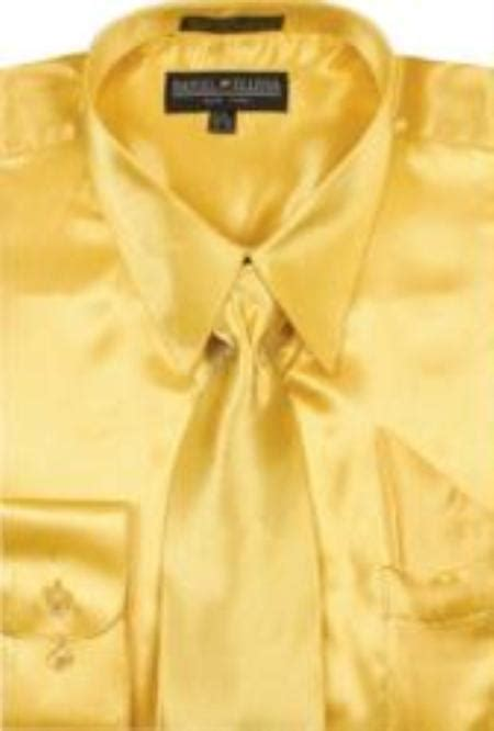 corduroy sleeve shirt dress 39 s gold shiny silky satin dress shirt tie