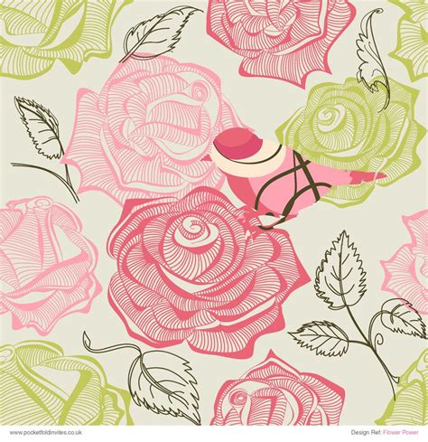 Patterned Paper Flower Power