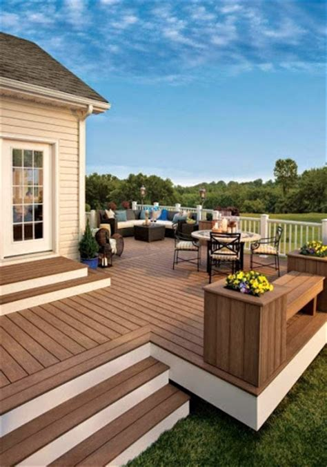 decorate the backyard with deck and patio ideas backyard