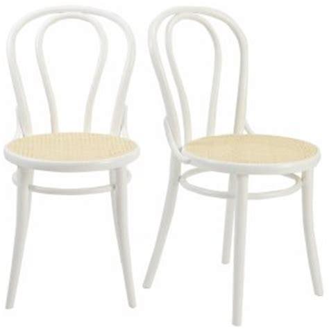 chaise de bistrot blanche chaise bistrot hêtre lot de 2 acheter ce produit au