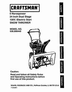 Craftsman 536 886440 User Manual