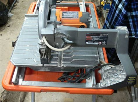 Ridgid Tile Saw R4030 Stand by Usa Pawnshop Rigid R4030 Tile Saw With Stand