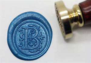 s1144 alphabet letter b wax seal stamp sealing With letter s wax seal stamp