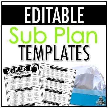 plan templates editable  pocketful  primary tpt