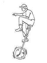Coloring Transportation Unicycle Pages Land Printable Activities Cycling sketch template