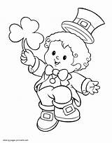 Coloring Leprechaun St Pages Patrick Printable Patricks Costume Boy Shamrock Saint Drawing Gold Sheets Colouring Kid Celebrating Toddlers Holidays Awesome sketch template