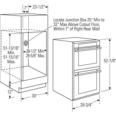 zetshss ge monogram  built  double wall oven  trivection technology