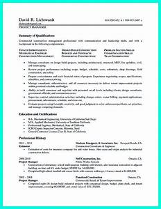 cool construction project manager resume to get applied With water and fire restoration resume examples