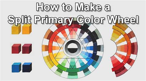 how to make a split primary color wheel