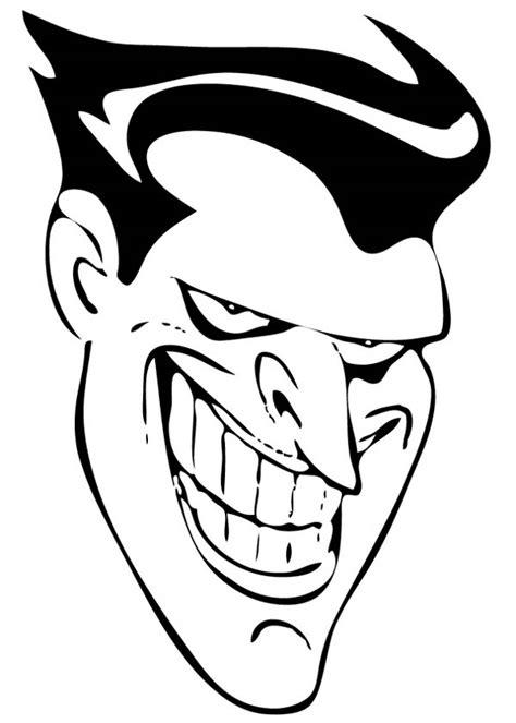 joker smiling face coloring page netart